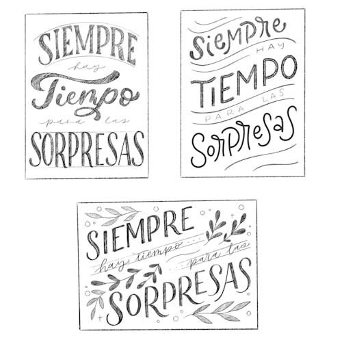 Composiciones de lettering desde cero